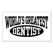 World's Greatest Dentist Rectangle Decal