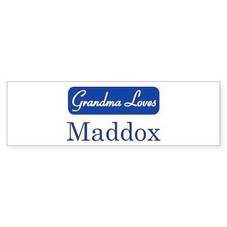 Grandma Loves Maddox Bumper Sticker