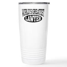 World's Greatest Lawyer Travel Coffee Mug