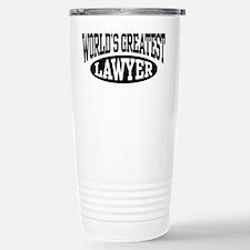 World's Greatest Lawyer Travel Mug