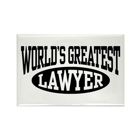 World's Greatest Lawyer Rectangle Magnet