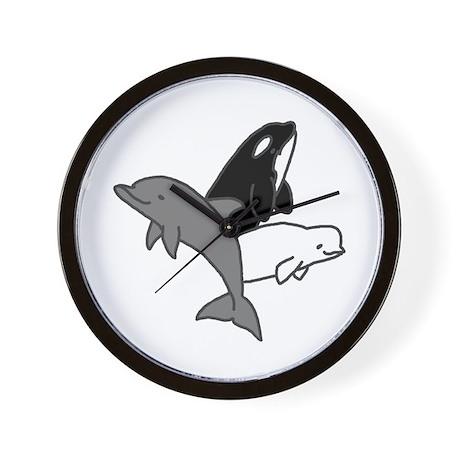 Cetacean Trio Wall Clock