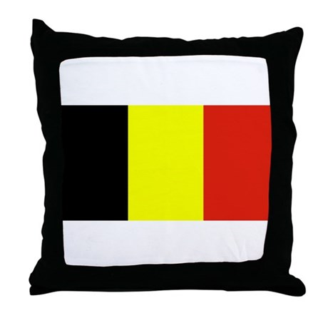 Throw Pillow Blanks : Belgium Flag Blank Throw Pillow by allflags