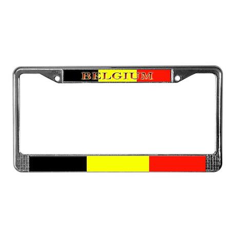 Belgium Flag Blank License Plate Frame