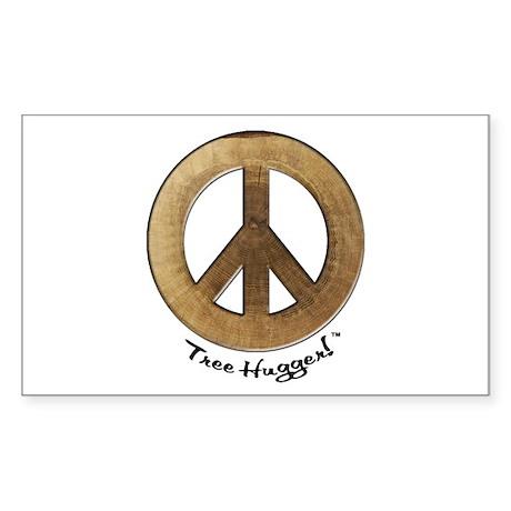 Sticker Tree Hugger (Rectangle 10 pk)
