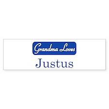 Grandma Loves Justus Bumper Bumper Sticker