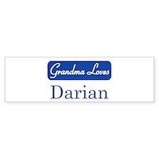 Grandma Loves Darian Bumper Bumper Sticker