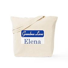 Grandma Loves Elena Tote Bag