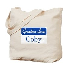 Grandma Loves Coby Tote Bag