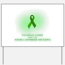 Yard Sign Green Ribbon Certificate