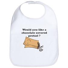 Chocolate covered pretzel Bib