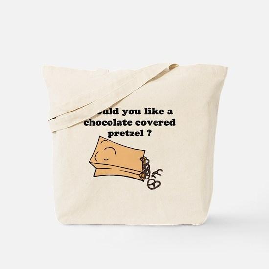 Chocolate covered pretzel Tote Bag
