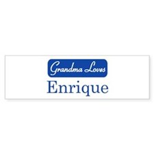Grandma Loves Enrique Bumper Bumper Stickers