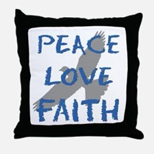 Peace Love Faith Throw Pillow