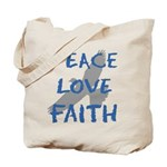 Peace Love Faith Tote Bag