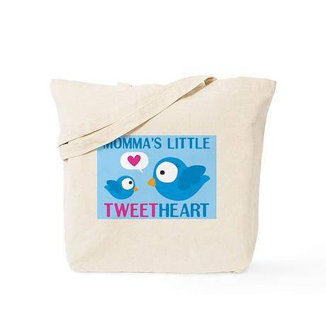 MOMMA'S LITTLE tweet HEART Tote Bag