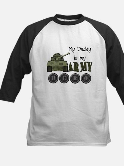 My Daddy is Army Hero Kids Baseball Jersey