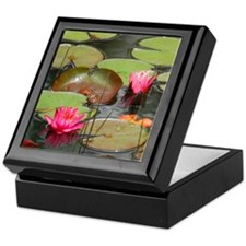 Funny Lily pad Keepsake Box