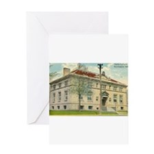 Carnegie Library 1 Huntington Greeting Card