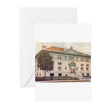 Carnegie Library 2 Huntington Greeting Cards (Pk o