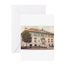 Carnegie Library 2 Huntington Greeting Card