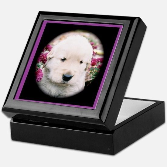 Golden Retriever Puppy Keepsake Box