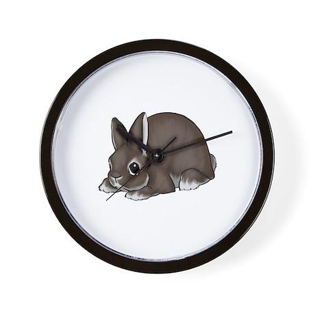 Chocolate Silver Marten Wall Clock