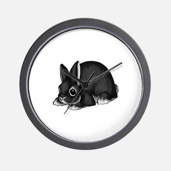 Black Silver Marten Wall Clock