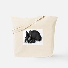 Black Silver Marten Tote Bag