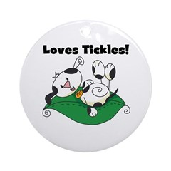Loves Tickles Ornament (Round)