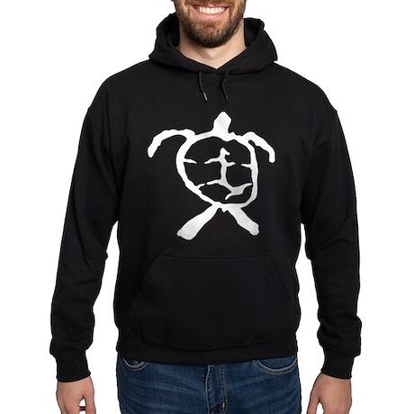 Hawaiian Turtle - BW Hoodie (dark)