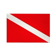 Diver Down Rectangle Magnet
