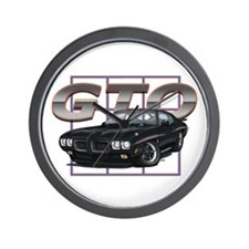 Black Pontiac GTO Wall Clock
