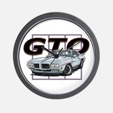 Silver Pontiac GTO Wall Clock