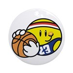 Smile Face Basketball Ornament (Round)