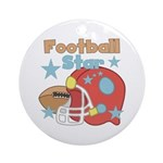 Football Star Ornament (Round)