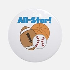 All Star Ornament (Round)