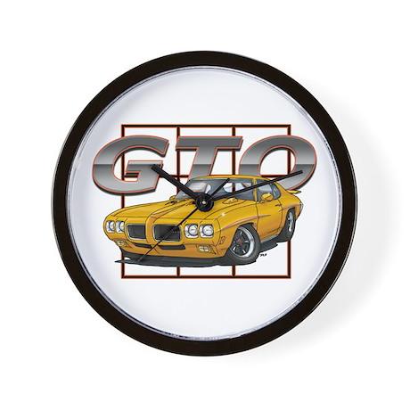 Orbit Orange Pontiac GTO Wall Clock