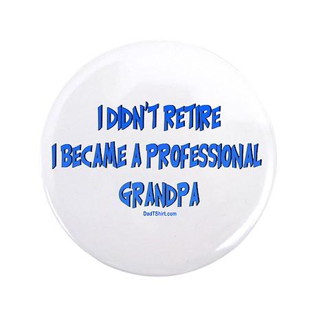 """Professional Grandpa 3.5"""" Button"""
