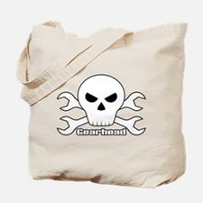 Gearhead Skull Tote Bag