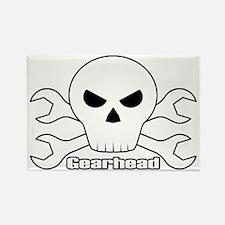 Gearhead Skull Rectangle Magnet