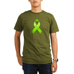 Lime Awareness Ribbon Organic Men's T-Shirt (dark)