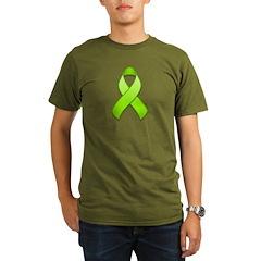 Lime Awareness Ribbon Organic Men's T-Shirt (dark)