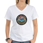 North Slope Borough PD Women's V-Neck T-Shirt