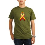 Red and Yellow Awareness Ribb Organic Men's T-Shir
