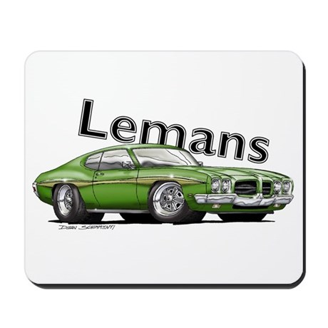 Green Pontiac Lemans Mousepad