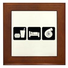 Eat Sleep Boost Framed Tile