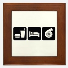 Eat Sleep Boost Framed Tile