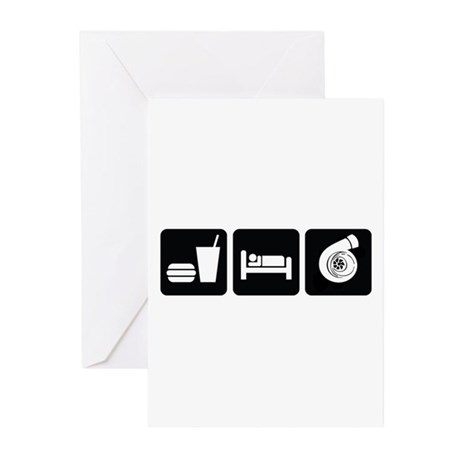 Eat Sleep Boost Greeting Cards (Pk of 10)