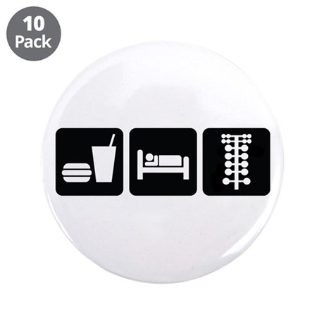 "Eat Sleep Drag 3.5"" Button (10 pack)"